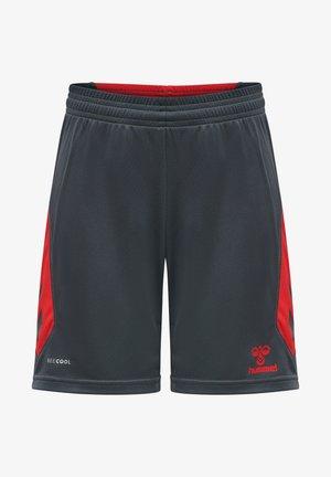 HMLACTION  - Sports shorts - ebony/flame scarlet