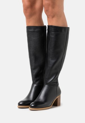 LEATHER  - Høje støvler/ Støvler - black