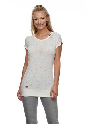 LESLY REGENBOGEN - Print T-shirt - weiß