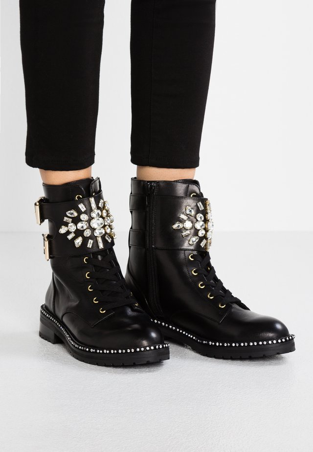 STOOP - Lace-up ankle boots - black