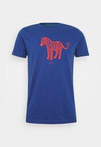 PS Paul Smith - MENS SLIM FIT DEVIL ZEBRA - Print T-shirt - blue - 3
