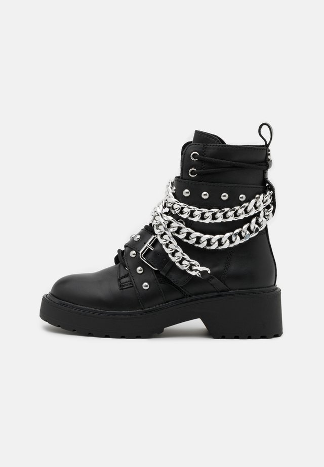 TEMINA - Lace-up ankle boots - black