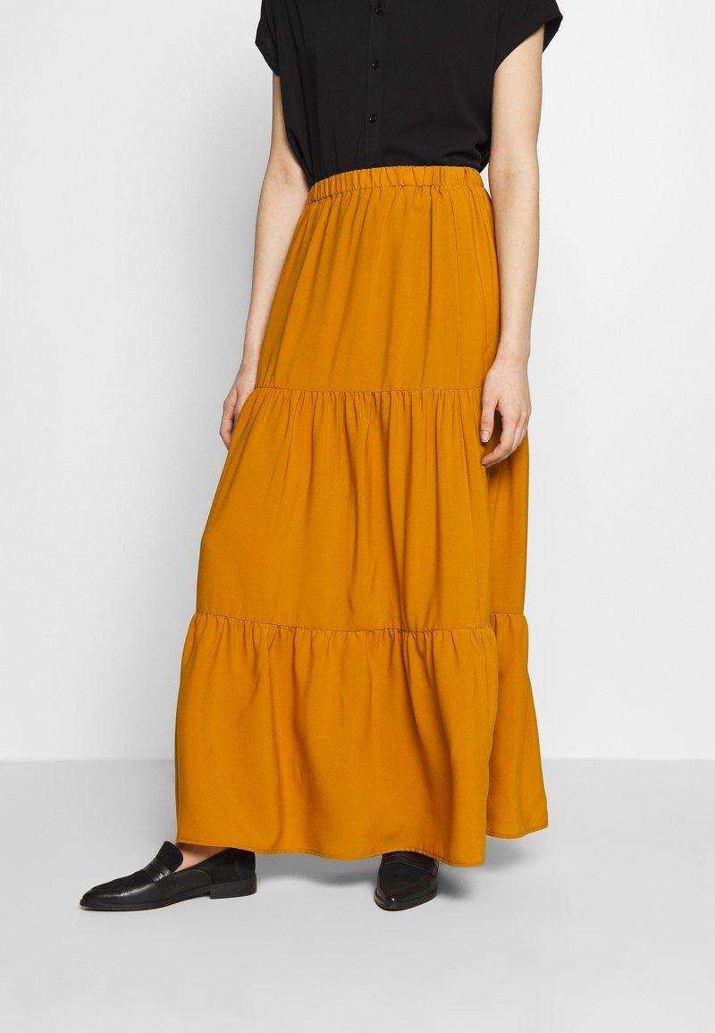 Sisley - SKIRT - Maxi sukně - mustard