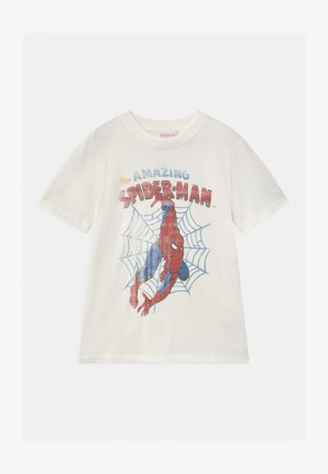 MARVEL SPIDERMAN SHORT SLEEVE  - T-shirt z nadrukiem - white