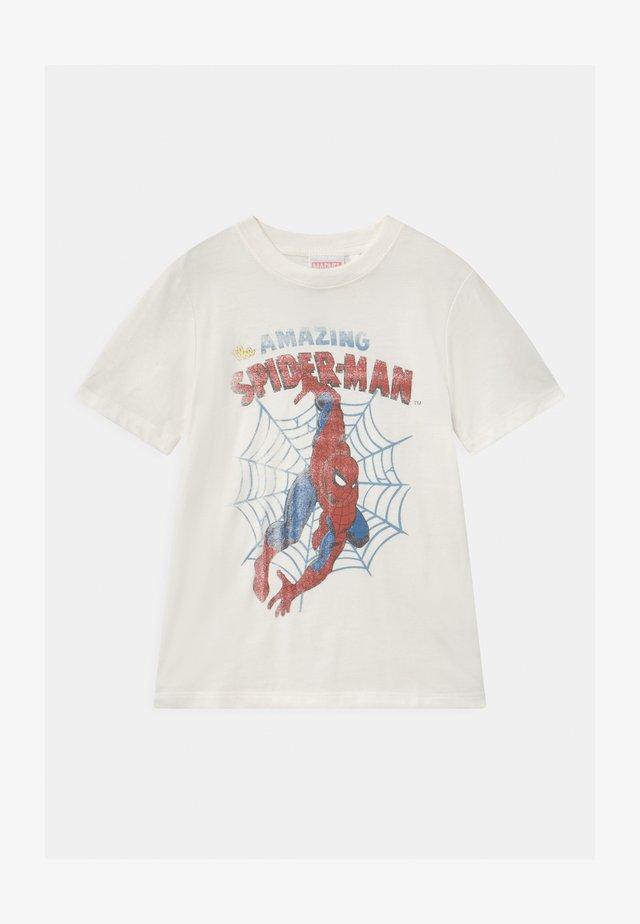 MARVEL SPIDERMAN SHORT SLEEVE  - T-shirts med print - white