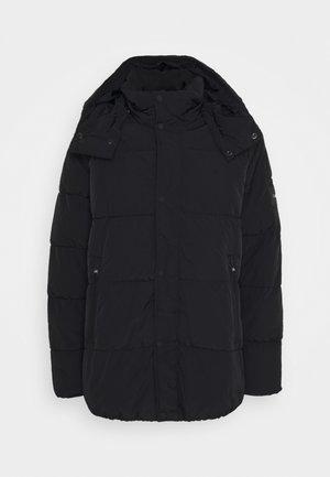 CRINKLE - Zimní kabát - black