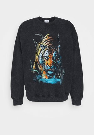 VINTAGE TIGER GRAPHIC UNISEX - Sweater - snow wash black