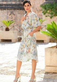 Alba Moda - Day dress - creme-weiß,lindgrün,grau - 5