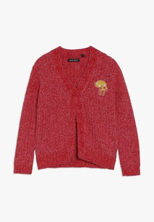 SMALL GIRLS CARDIGAN PULL - Vest - tomato pure