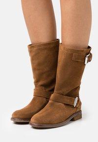 Shabbies Amsterdam - Cowboy/Biker boots - cognac - 0