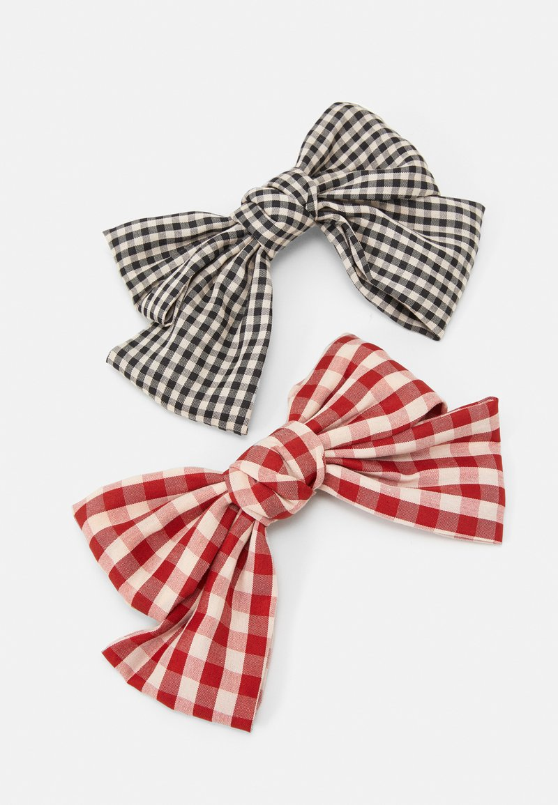 Pieces - PCJACKA HAIRCLIP BOW 2 PACK - Hair styling accessory - black/red