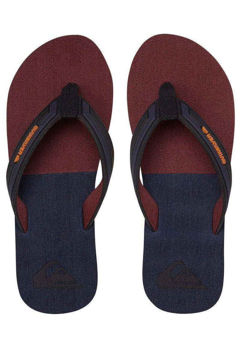 Quiksilver - T-bar sandals - black/grey/brown