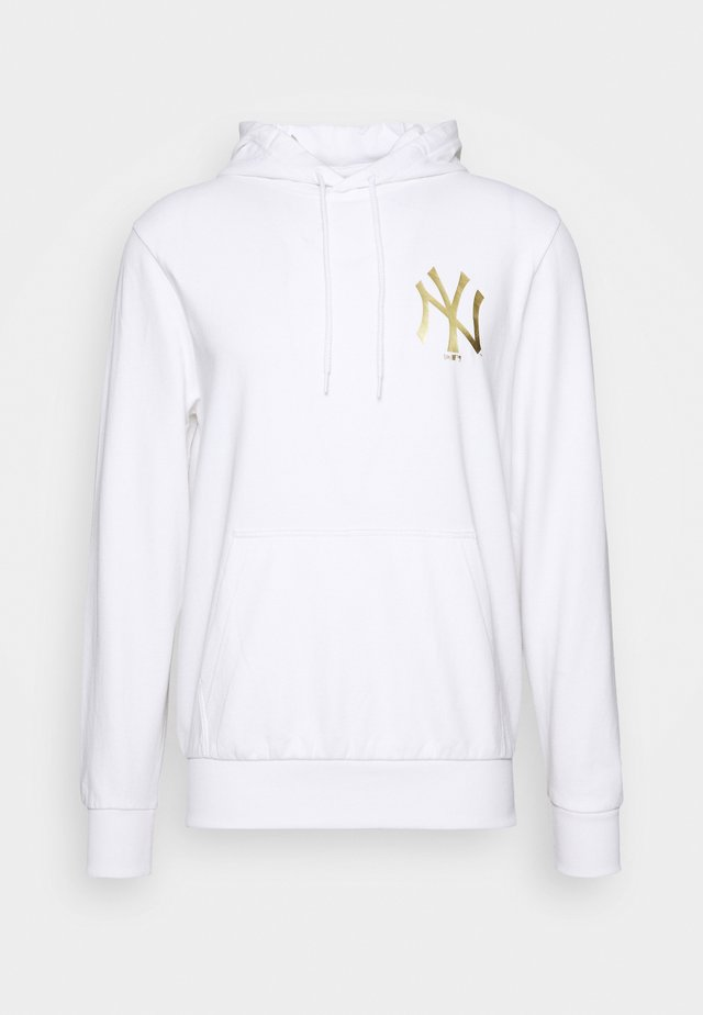 MLB NEW YORK YANKEES NEW ERA METALLIC HOODY - Sweat à capuche - white