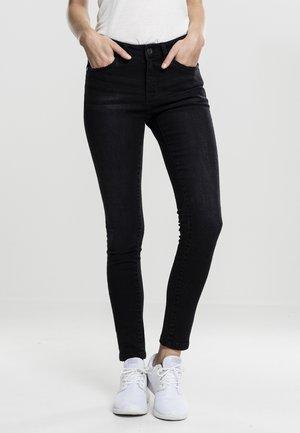 LADIES PANTS - Jeans Skinny Fit - black washed