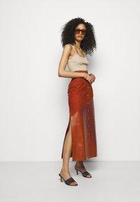 Bally - MIXED SKIRT - Maxi skirt - spice - 1