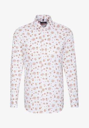 SLIM FIT - Shirt - off-white/orange