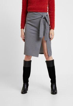 YASCALLI SKIRT - Pencil skirt - medium grey melange