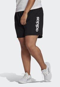 adidas Performance - ESSENTIALS SLIM LOGO SHORTS (PLUS SIZE) - Pantalón corto de deporte - black/white - 2