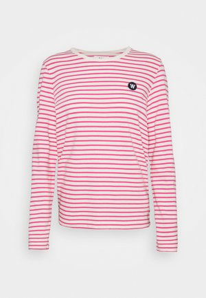 MOA STRIPE LONG SLEEVE - Long sleeved top - off-white/pink