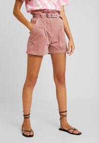 Lost Ink - PAPERBAG WITH BELT - Shorts - light pink - 0