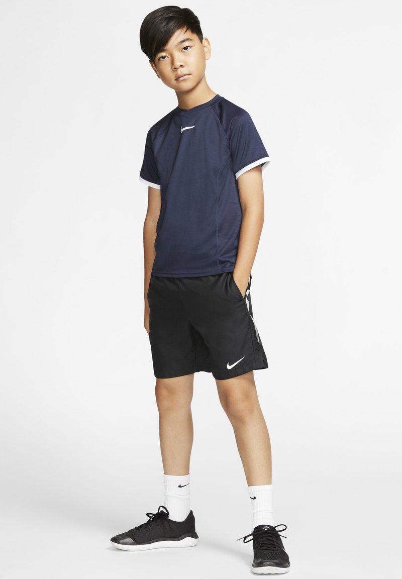 Nike Performance - DRY - Print T-shirt - obsidian/obsidian/white/white