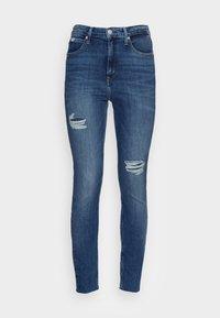 HIGH RISE SUPER ANKLE - Jeans Skinny Fit - denim medium
