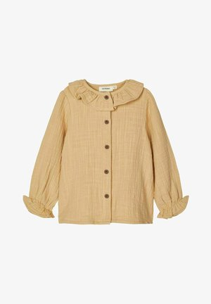Button-down blouse - taos taupe