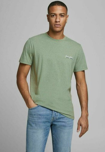JORTONS TEE CREW NECK - Basic T-shirt - sea spray