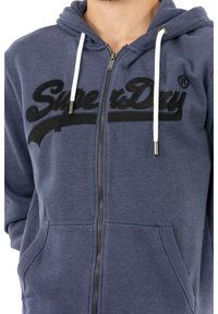 Superdry - Zip-up sweatshirt - bleu - 3