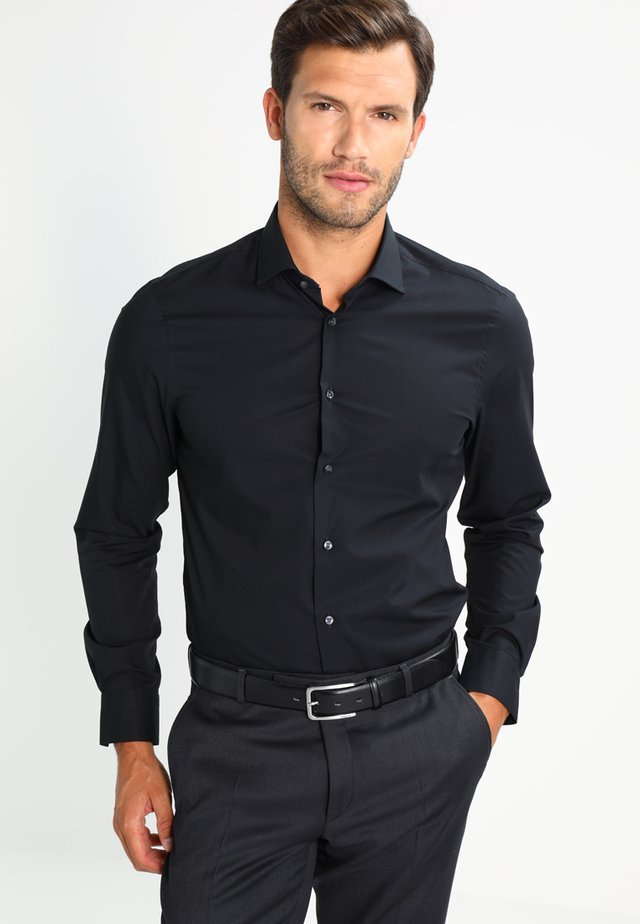 SLIM FIT - Kauluspaita - black