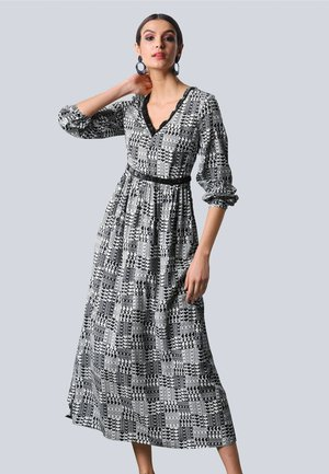 Maxi dress - off-white,schwarz