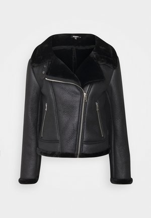 LINED AVIATOR - Winter jacket - black