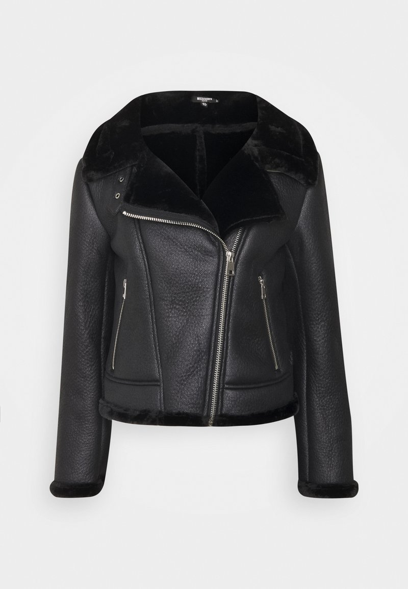Missguided Petite - LINED AVIATOR - Winter jacket - black