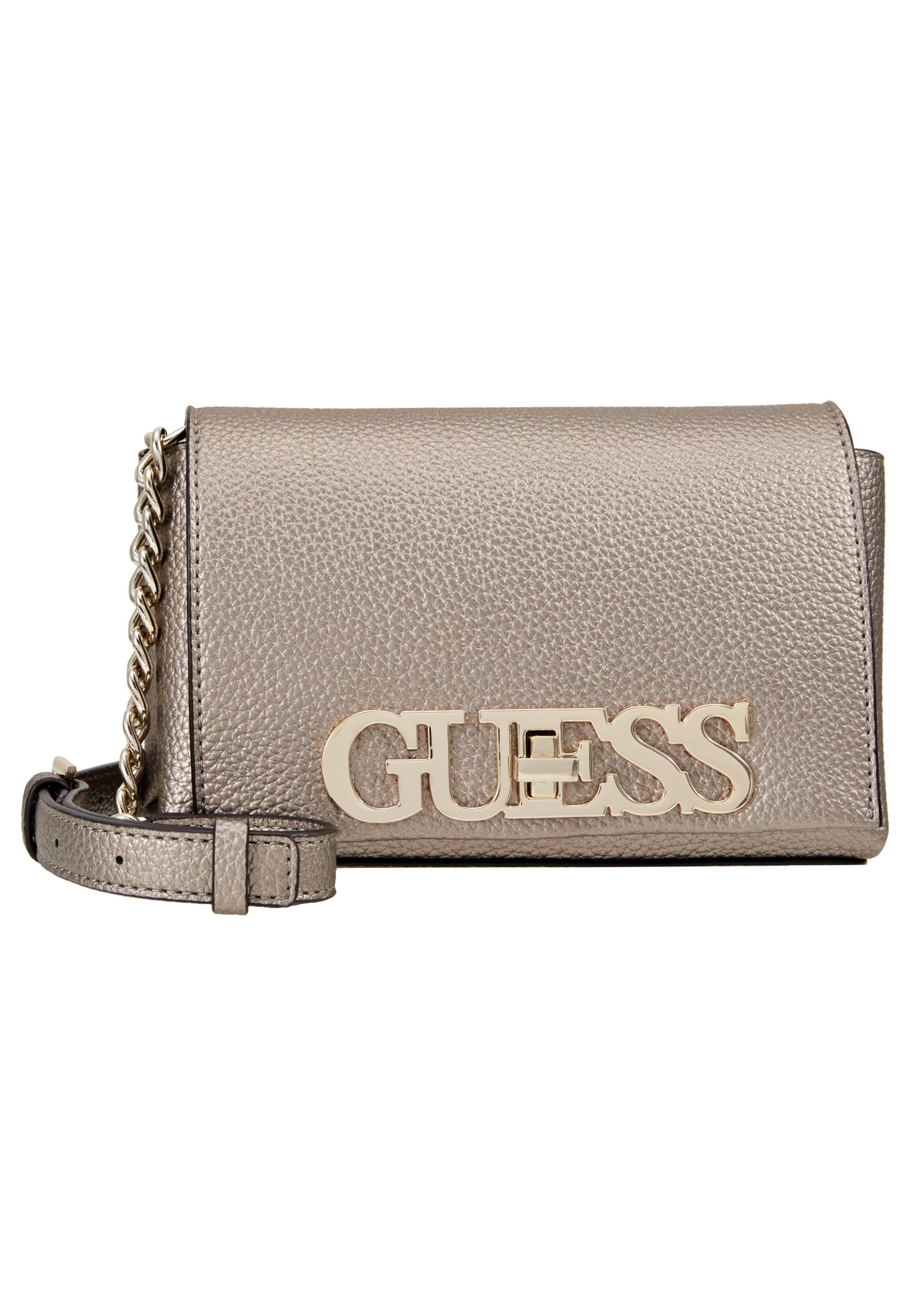 Guess UPTOWN CHIC MINI XBODY FLAP Skulderveske gold