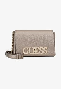 Guess - UPTOWN CHIC MINI XBODY FLAP - Bandolera - pewter - 5
