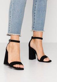 Miss Selfridge - STEFFI - High heeled sandals - black - 0