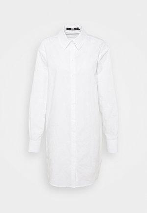 LOGO EMBROIDERED TUNIC SHIRT - Tunique - white