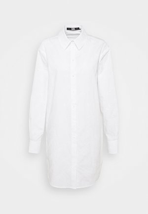 LOGO EMBROIDERED TUNIC SHIRT - Tunic - white