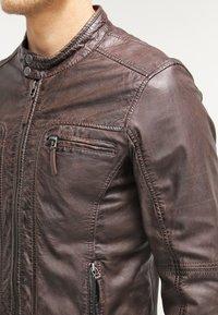 Oakwood - CASEY  - Kožená bunda - dark brown - 4