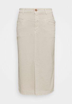 JUNE - Denim skirt - almond cream