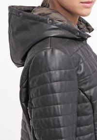 Oakwood - DUVET - LEATHER JACKET - Leather jacket - black - 4