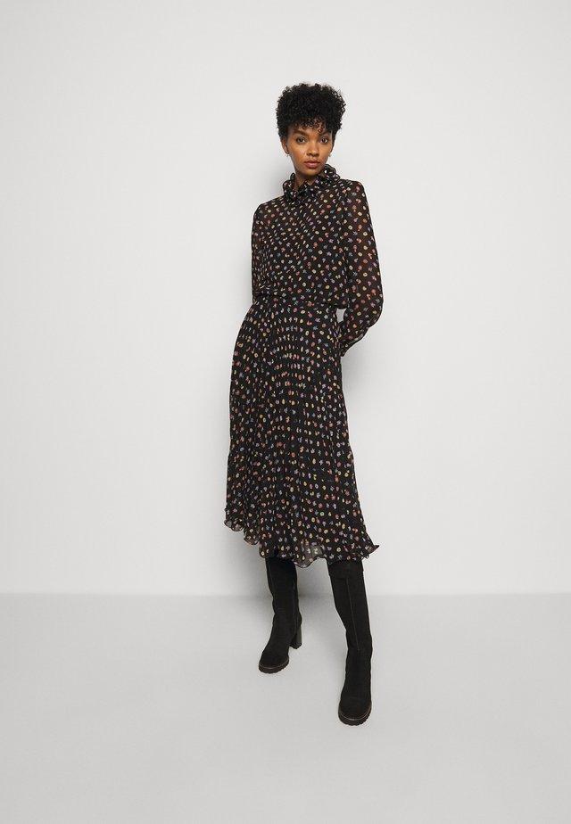 A-line skirt - multicolor/black
