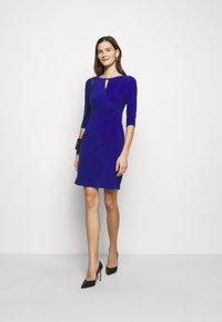Lauren Ralph Lauren - MID WEIGHT DRESS TRIM - Robe fourreau - french ultramarin - 1