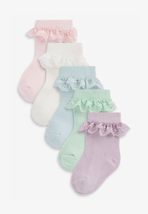 5 PACK FRILL  - Trainer socks - multi-coloured