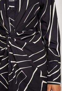 4th & Reckless Petite - TWISH KNOT DRESS - Shirt dress - black - 6