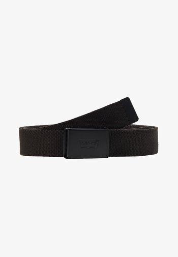 TONAL WEB BELT UNISEX - Belt - regular black