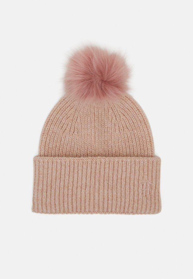 EFFORTLESS POM POM BEANIE - Mössa - pink