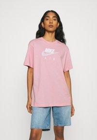 Nike Sportswear - AIR - T-shirt imprimé - pink glaze/white - 0