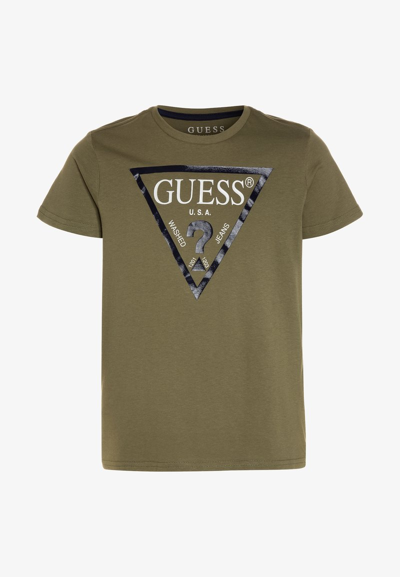 Guess - CORE JUNIOR  - T-shirt z nadrukiem - light military green