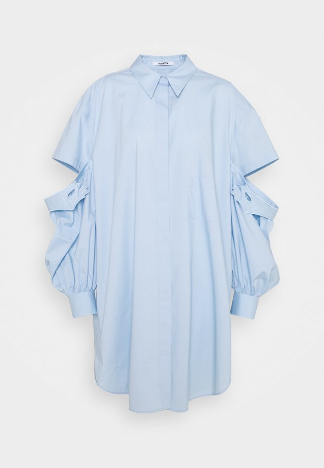 Button-down blouse - azzurro